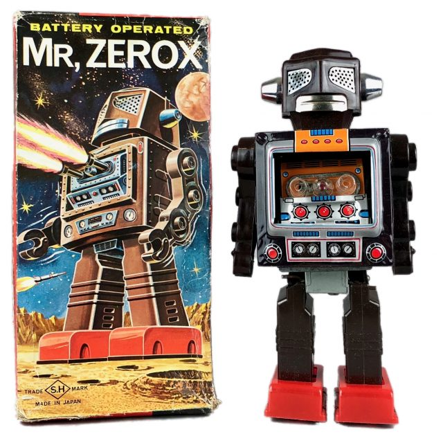 SH Horikawa Japan battery operated 'Mr Zerox' automatic action robot Sold for £180