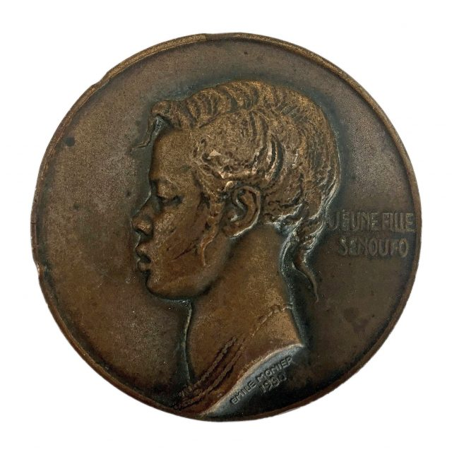 Set of Six Emile Monier Cast Bronze African Tribe Medals Sold for £400