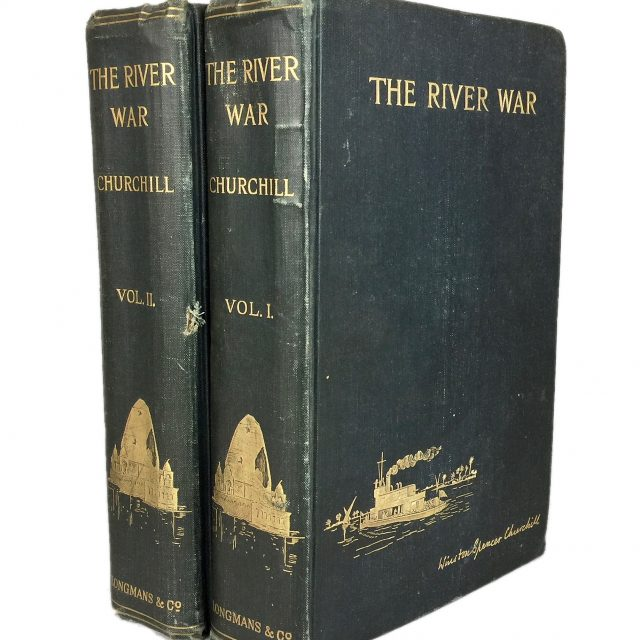 Winston Spencer Churchill, The River War, 2 Volumes, 1899 First Edition Published by Longmans, Green & Co. Sold for £1,000