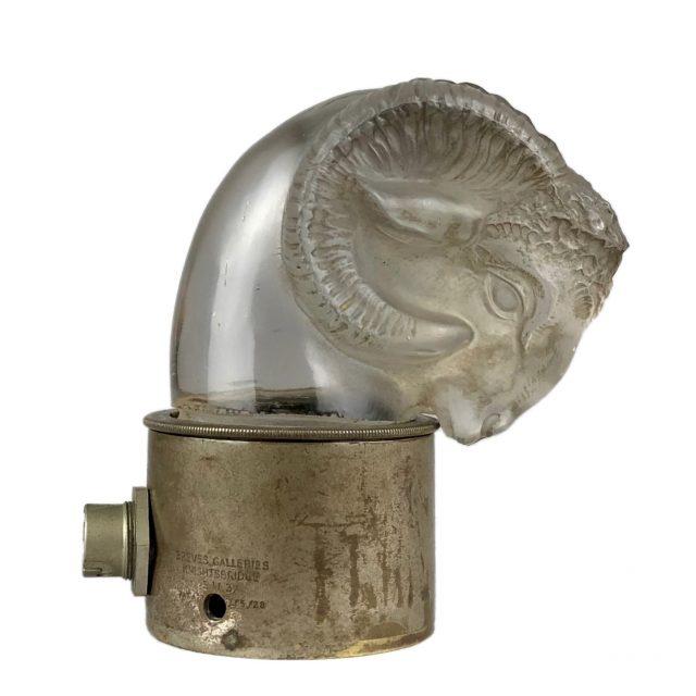 Available - René Lalique (1860-1945), 'Tête de Belier', car mascot No. 1136