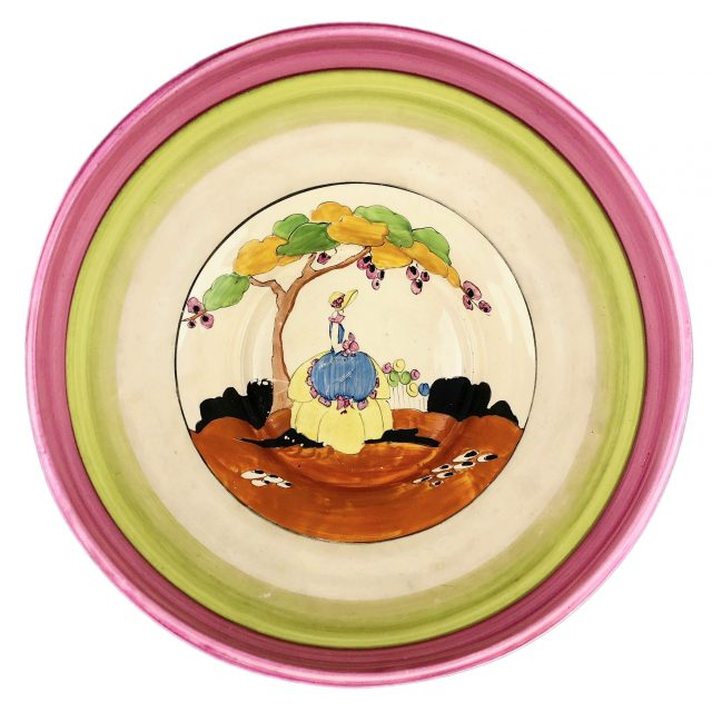 Clarice Cliff Bizarre 'Applique Idyll' bowl Sold for £500