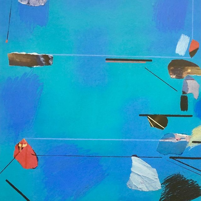 DAVID BLACKBURN MBE (1939-2016), BEACH BLUE, 1985, PASTEL & COLLAGE, SIGNED Sold for £999.99