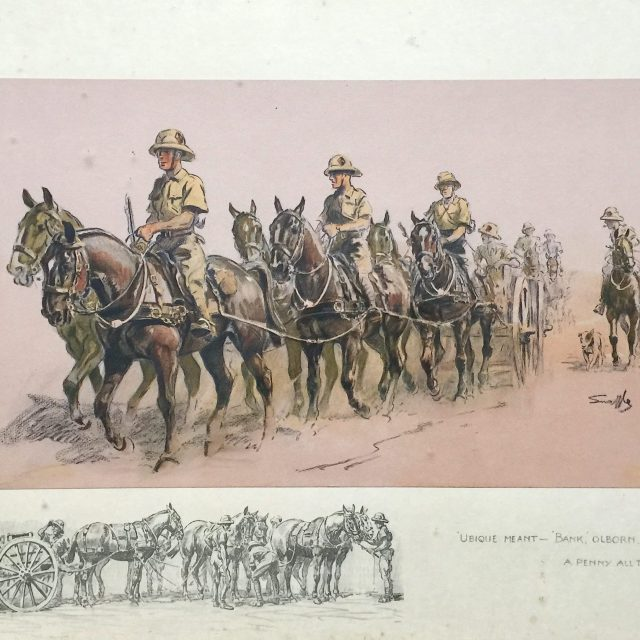 Snaffles, Charles Johnson Payne, '-Ubique Meant - Bank Olborn, A Penny all the Way', Limited Edition Print Sold for £500