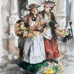 Gordon King painting