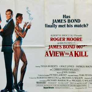 James Bond view kill poster