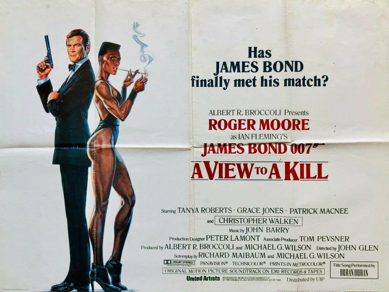 JAMES BOND -A VIEW TO A KILL (1985)- ORIGINAL STYLE B UK QUAD FILM ...
