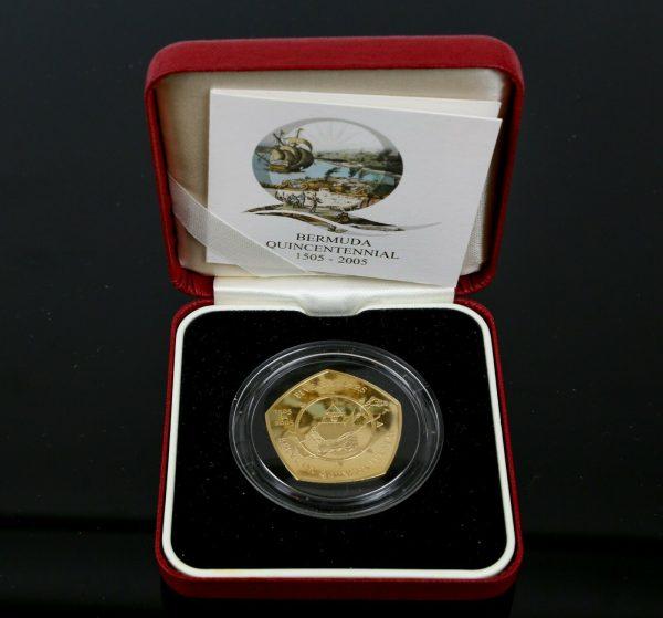 Bermuda Gold quincentennial Coin