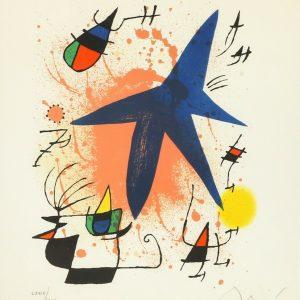 Joan Miro signed print
