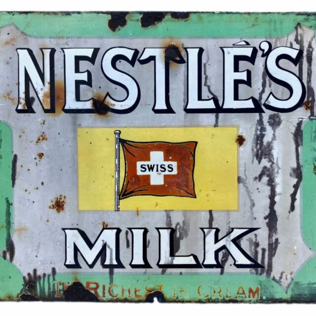 Nestles enamel sign