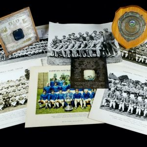sandy brown everton football memorabilia
