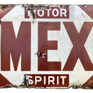 Mex Motor Spirit enamel sign