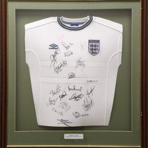 Signed England Shirt football