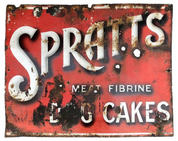 Spratts Enamel Sign