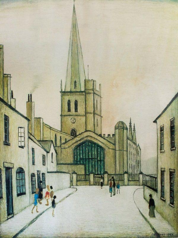 lowry signed print Burford Church
