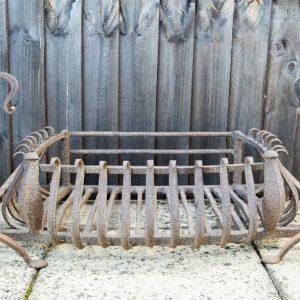 antique fire basket dogs