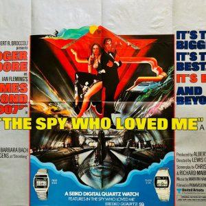 James Bond spy loved poster